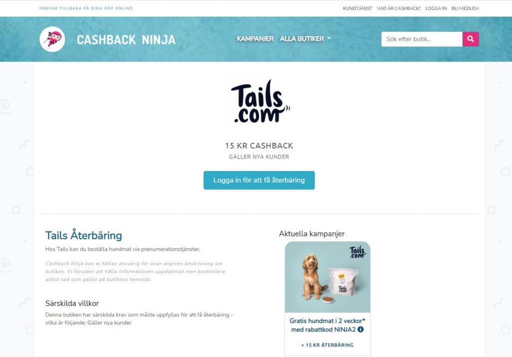 Cashback Ninja   Återbäringssida i Laravel med PHP osv